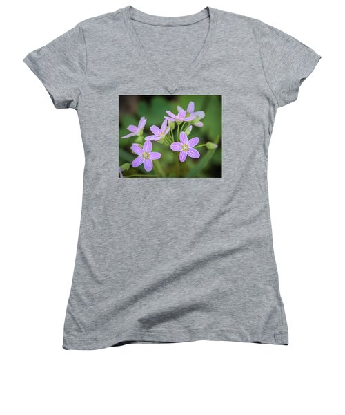 Women's V-Neck T-Shirt featuring the photograph Spring Vibe by Bill Pevlor