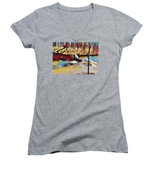 Spring Waterfall Women's V-Neck T-Shirt