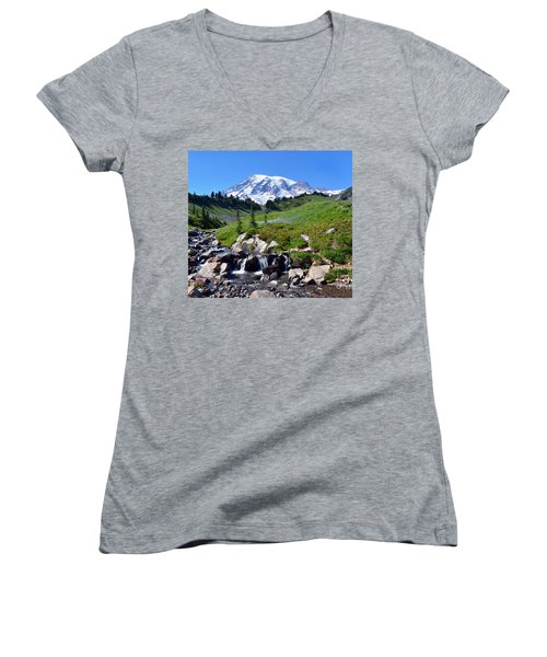 Springtime At Paradise 3 Women's V-Neck T-Shirt