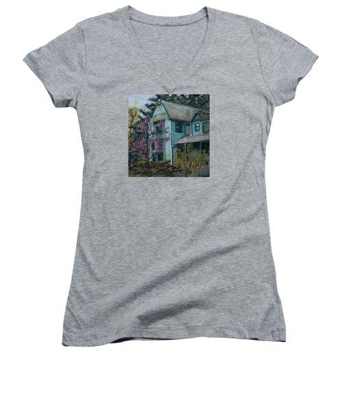 Springtime In Old Town Women's V-Neck T-Shirt