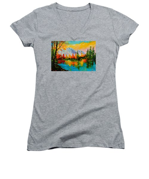 Springtime Reflections Women's V-Neck