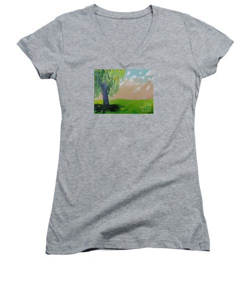 Springtime Willow Women's V-Neck