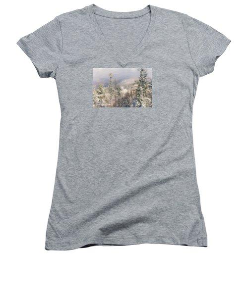 Spruce Peak Summit At Sunday River Women's V-Neck T-Shirt