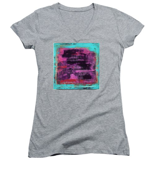 Art Print Square1 Women's V-Neck (Athletic Fit)