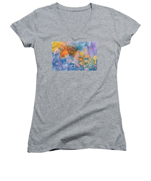 Squirrel Hollow Women's V-Neck T-Shirt (Junior Cut) by Nancy Jolley
