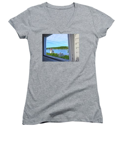 Squirrel Point View From The Deck Women's V-Neck
