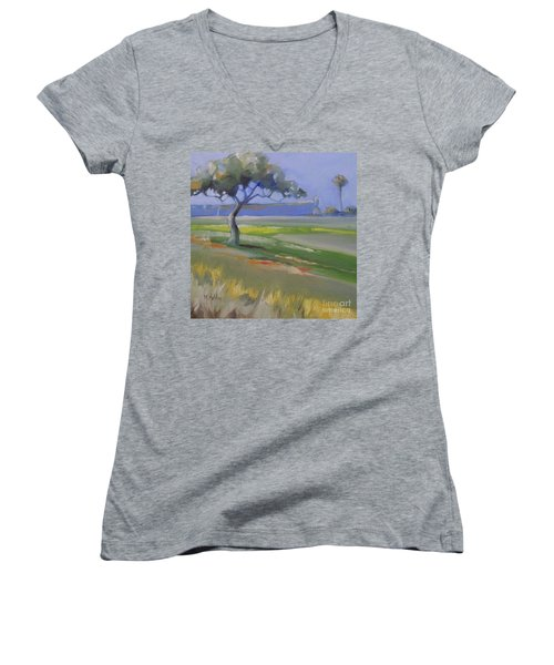 St. Augustine Spanish Castillo Women's V-Neck T-Shirt
