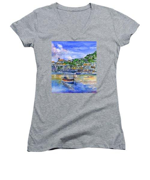 St. George Grenada Women's V-Neck T-Shirt (Junior Cut)