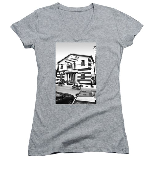 St. Georges Hall, Broad Street Women's V-Neck (Athletic Fit)