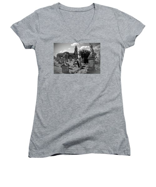 St Georges Angel Women's V-Neck T-Shirt