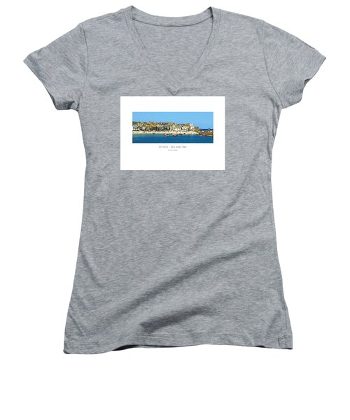 St Ives Sea And Sky Women's V-Neck