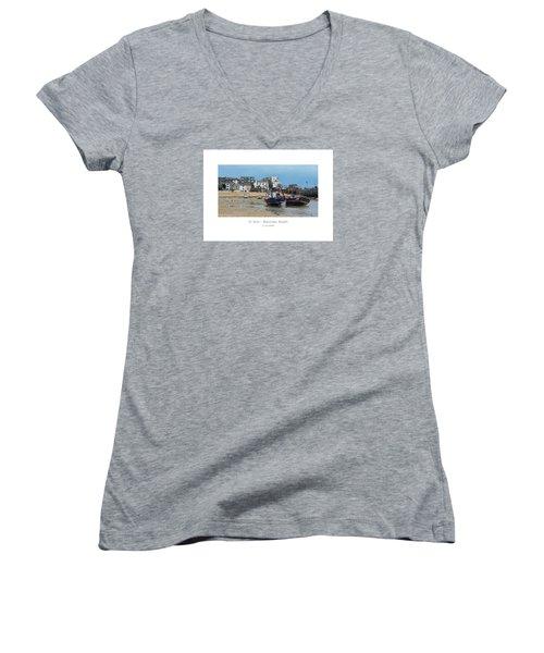 St Ives - Waiting Boats Women's V-Neck