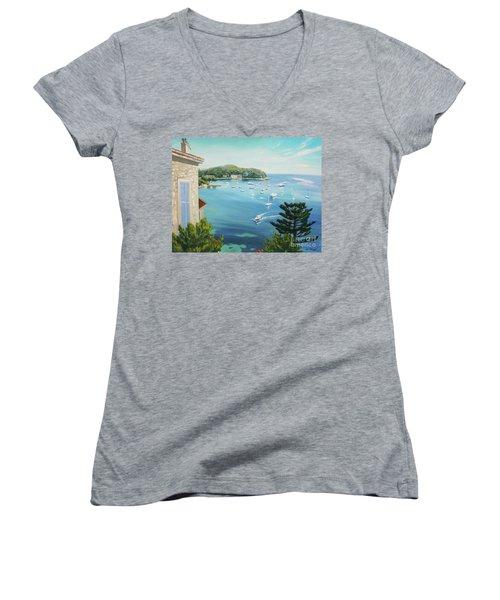 St Jean Cap Ferrat 2 Women's V-Neck T-Shirt