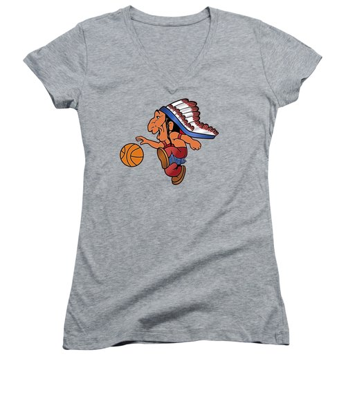 St Johns Redmen I Women's V-Neck T-Shirt (Junior Cut) by  Newwwman