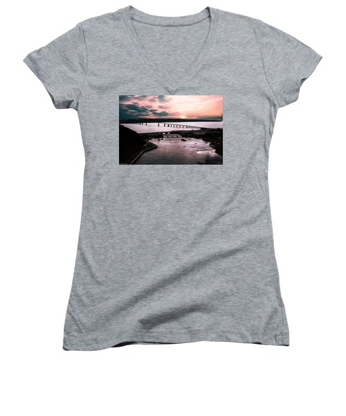 St. Lawrence Sunset Women's V-Neck