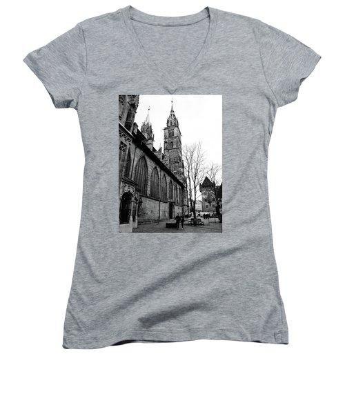 St. Lorenz Cathedral Women's V-Neck T-Shirt