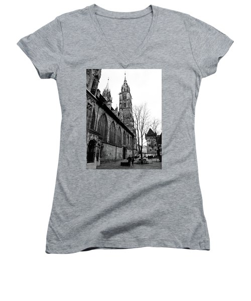 St. Lorenz Cathedral Women's V-Neck (Athletic Fit)