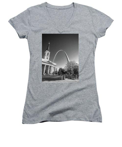St. Louis Arch Women's V-Neck (Athletic Fit)