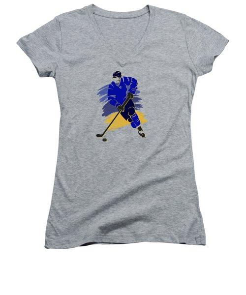 St Louis Blues Player Shirt Women's V-Neck (Athletic Fit)