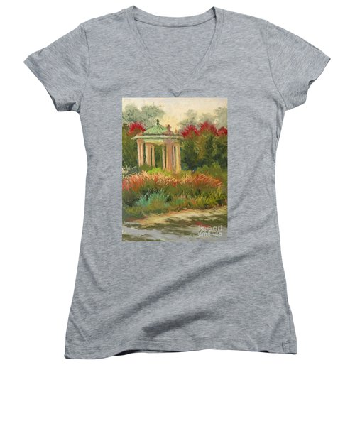 St. Louis Muny Bandstand Women's V-Neck (Athletic Fit)
