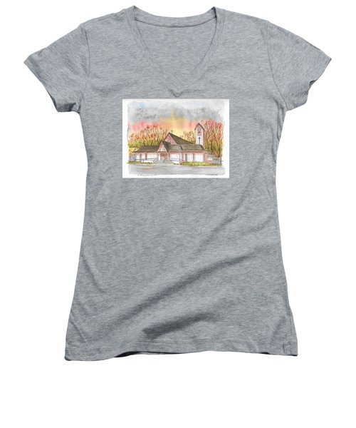 St. Malachy Church, Tehachapi, California Women's V-Neck (Athletic Fit)