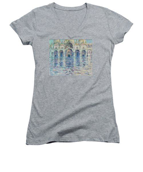 st-Marco square- Venice Women's V-Neck T-Shirt