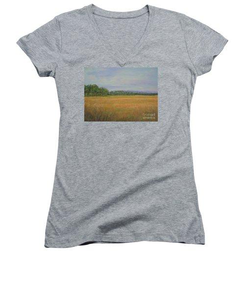 St. Marks Refuge I - Autumn Women's V-Neck T-Shirt (Junior Cut) by Gail Kent