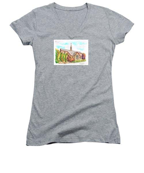 St. Mary's Catholic Church, Brighton, Utah Women's V-Neck T-Shirt (Junior Cut) by Carlos G Groppa