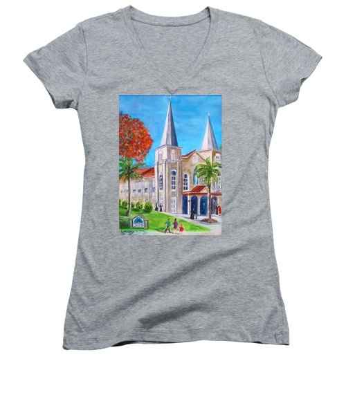 St. Mary's Catholic Church Key West Women's V-Neck (Athletic Fit)