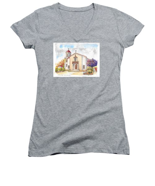 St. Mary's Catholic Church, Oakdale, California Women's V-Neck