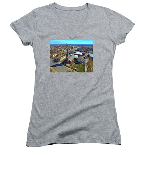 St. Marys Women's V-Neck T-Shirt (Junior Cut) by Dave Luebbert