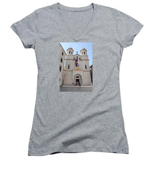 St Nicholas Kotor Women's V-Neck T-Shirt