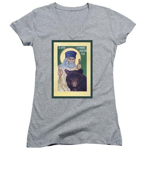 St. Seraphim Of Sarov - Rlses Women's V-Neck