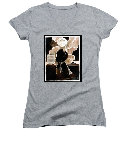 St. Therese Doing The Dishes - Mmdtd Women's V-Neck