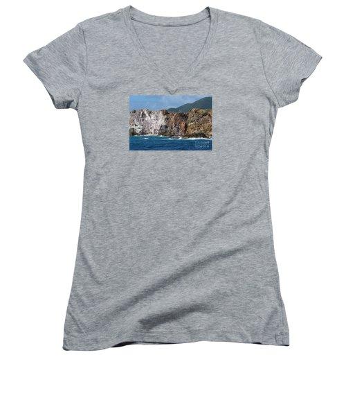 St. Thomas Shoreline Women's V-Neck T-Shirt (Junior Cut)