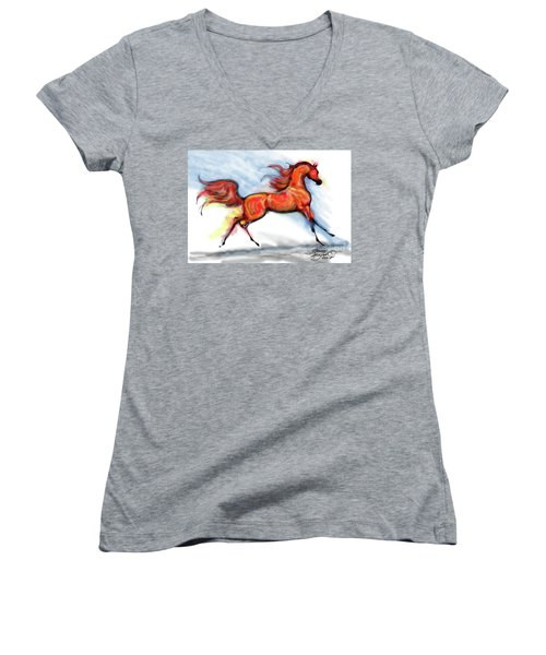 Staceys Arabian Horse Women's V-Neck (Athletic Fit)