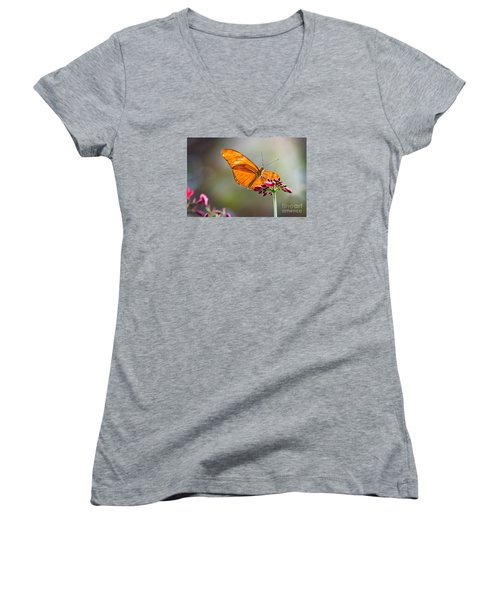 Stained Glass Wings Women's V-Neck (Athletic Fit)