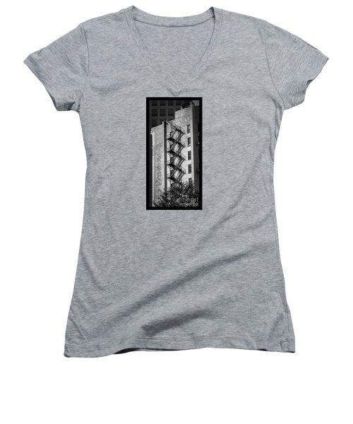 Staircase Silhouette Women's V-Neck T-Shirt