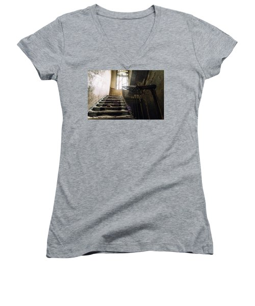 Stairs In Haunted House Women's V-Neck