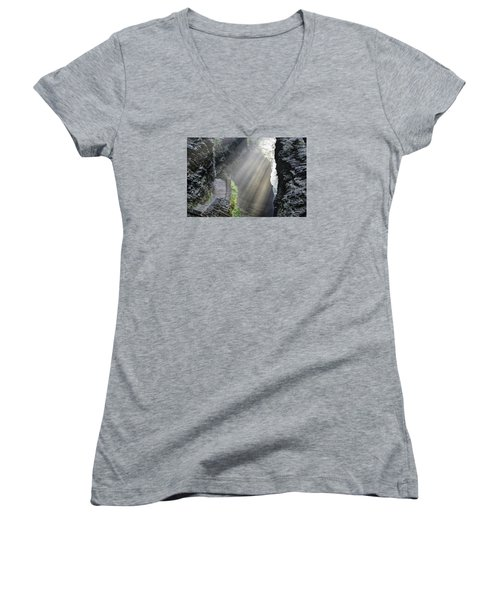 Stairway Into The Light Women's V-Neck T-Shirt