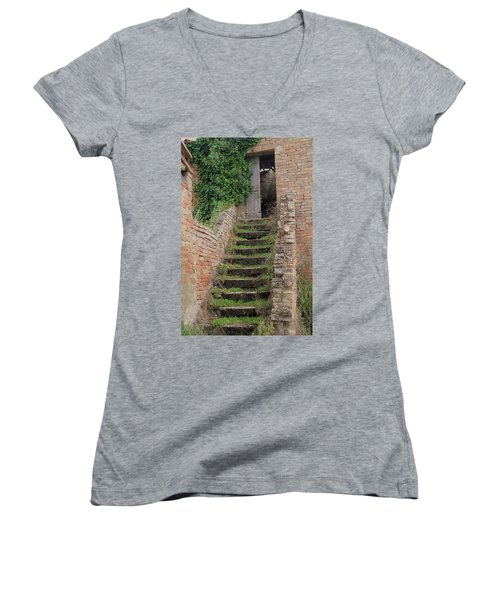 Stairway Less Traveled Women's V-Neck (Athletic Fit)