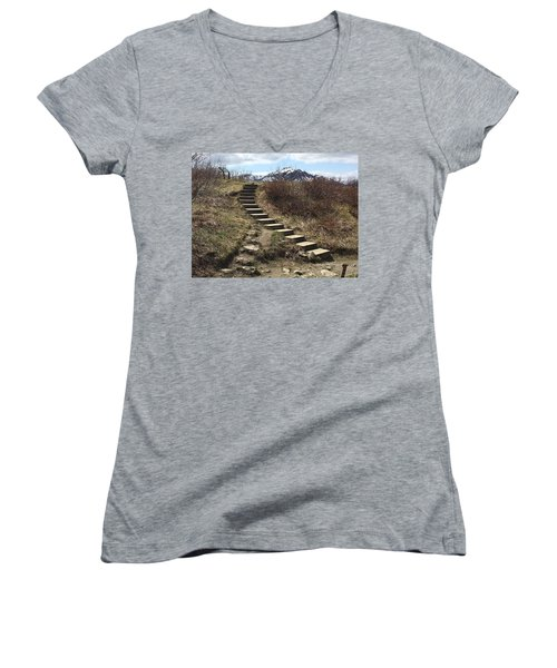 Stairway To Heaven II Women's V-Neck (Athletic Fit)