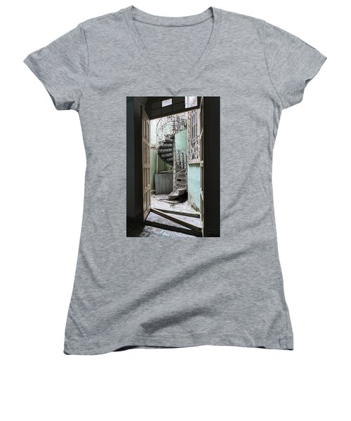 Stairway To Up Women's V-Neck