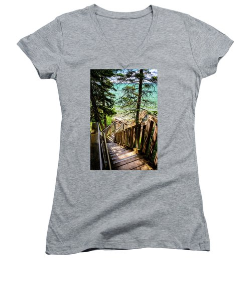 Stairways To Paradise Women's V-Neck T-Shirt