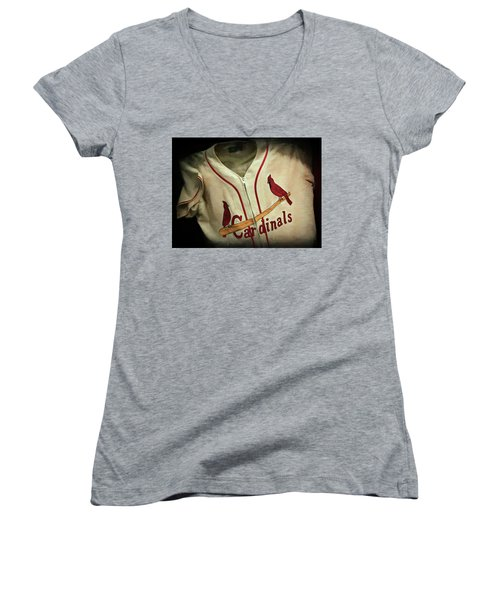Stan The Man Women's V-Neck T-Shirt (Junior Cut) by Stephen Stookey