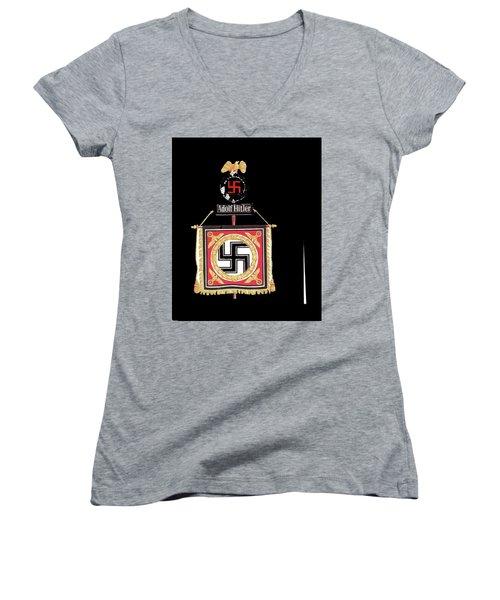 Standard Of The Leibstandarte Adolf Hitler Circa 1935  Women's V-Neck