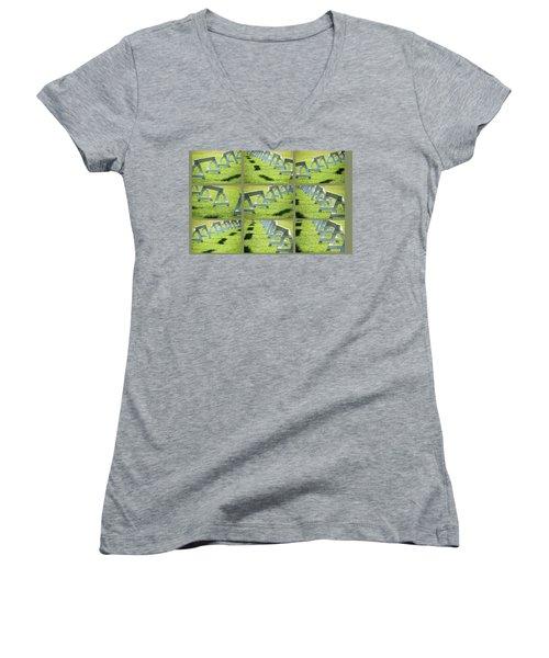 Standing By -  Women's V-Neck T-Shirt