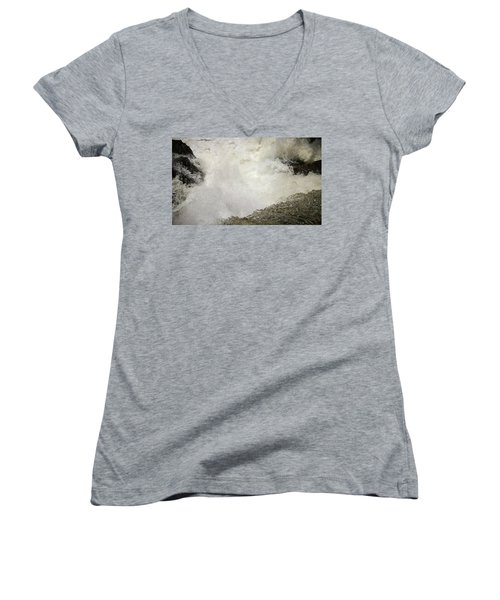 Standing On A Waterfall Women's V-Neck (Athletic Fit)