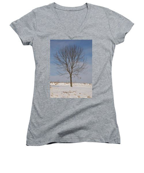 Women's V-Neck T-Shirt (Junior Cut) featuring the photograph Standing Tall by Sara  Raber