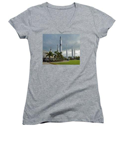 Standing Tall Women's V-Neck T-Shirt